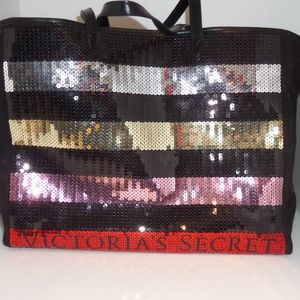 Victoria's Secret Sequin Tote Carry All Bag